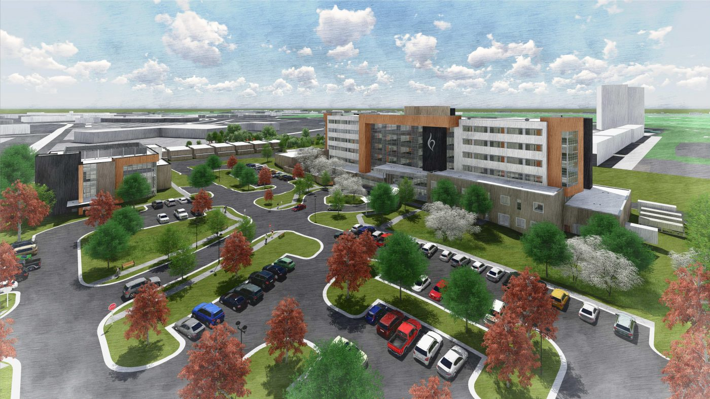 A rendering of the upcoming campus for Belmont Behavioral Health System